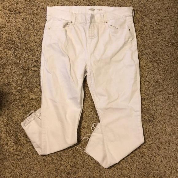 Old Navy Denim - White old navy power jean